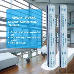 Produit d'étanchéité en silicone Weather-Resist neutre pour mur rideau d'étanchéité de verre