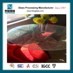 Morden Conception de la glace en verre fissuré Table pour la table à café