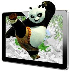 49インチLCDのタッチスクリーンの広告のための人間の特徴をもつモニタバスTV