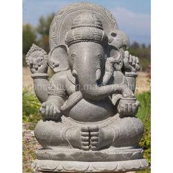 屋内装飾のGanesha Statueヒンズー教の大理石の花こう岩の神の主