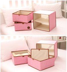 ピンクの非編まれたボール紙のマルチ目的は記憶の引出しに着せる