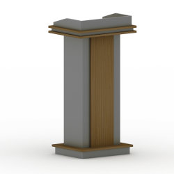2020新しい現代学校家具の純木の指揮台
