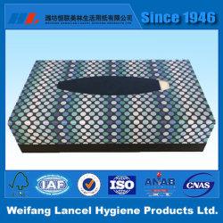 Producto caliente Logotipo personalizado pulpa de madera virgen natural suave tipo de caja de 2 capas de tejido Facial para el hogar, oficina & Outdoor
