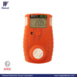 Único digital portátil de gases tóxicos (H2S, CO) Detector para la Seguridad Personal (BX171)