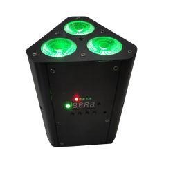 IRの電池そしてWiFiの3*12W RGBWA+UV 6in1超明るいSmartbat LED (遠隔)