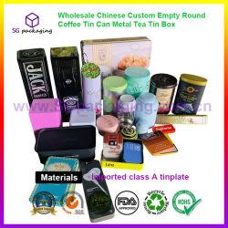 Großhandel Chinesische Custom Leer Runde Kaffeekanne Metall Tee Zinnbox