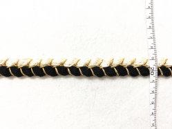 Acessórios de vestuário de algodão Mercerizado e rosca de ouro tecido do cinto trançado, adequado para roupas da moda.