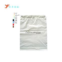 Cordão personalizado à mochila saco de plástico com pega de corda de 2 mm