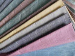 폴리에스테르 면 의류 W10 Slub Checks 셔츠 직물