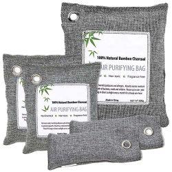 100% natürliches Bambusluft-Erfrischungsmittel mit betätigtem Kohlenstoff-Luft-Reinigungsapparat u. Trockenmittel-Chemikalie frei Oder frei für Auto-Küche-Wandschrank