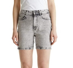 No Verão mulheres soltos personalizado confortável casual de moda de alta qualidade novos calções de ganga cinzenta de algodão