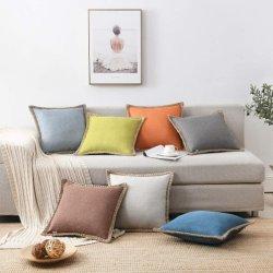 Le linge de toile de jute taillés sur mesure Housse de coussin Housse de coussin décoratif pour la table voiture canapé, Vintage jeter Couvre oreiller