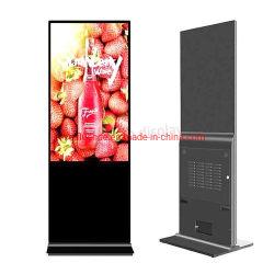 49'' Soporte de suelo en el interior del Reproductor Digital Signage Centro Comercial Gran pantalla de LED LCD TV Publicidad Vertical