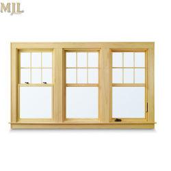 Modern ontwerp Aluminium bekleding Houten bovenkant Hung Glass venster