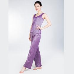 Insiemi di bambù del cotone 50% Pijamas delle signore 50%, indumenti da letto sexy di usura di donne dei pigiami di estate