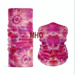 Il marchio personalizzato ha stampato la sciarpa 100% di collo di Microfiber del poliestere