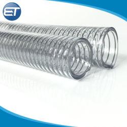 내한성 투명 강철 와이어 보강 PVC 호스