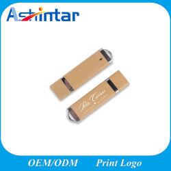 محرك أقراص USB خشبي صديق للبيئة مزود بشعار متعدد التخزين هدية عرض Eco الترويجي