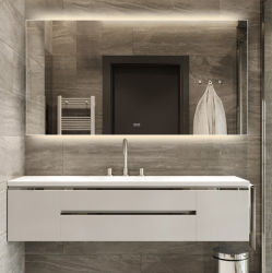La luz vestirse Anti-Fog espejo baño espejo de pared mate sin cerco Fogless espejos con el Dimmer Contacto