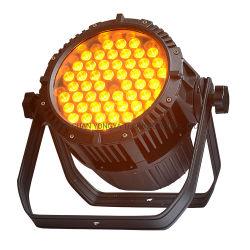 Fase impermeável ao ar livre luz PAR LED 54HP 3W LEDs âmbar