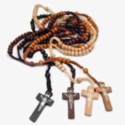 Het katholieke Hout van de Halsband van de Rozentuin parelt Met de hand gemaakte DwarsHalsband