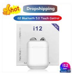 BluetoothのヘッドホーンのBluetoothのヘッドセットの無線ヘッドホーンの無線ヘッドセットのTwsのイヤホーンはiPhone X自動組み合わせるI12のためのタュチ・コントロールを自由に渡す