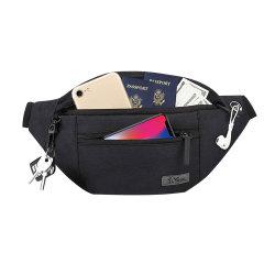 4ジッパーのポケットギフトが付いている大きいウエストバッグはのための祝祭のスポーツの試しの移動の連続した偶然のハンズフリーのウエストのパックを楽しむ