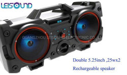 bateria recarregável Leisound Double 5,25 polegadas colunas portáteis para utilização no exterior