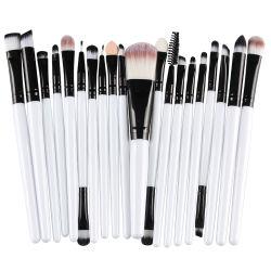 SET di spazzole per trucco 20 PZ. Eye Shadow Foundation Powder Blush Cosmetic Kit di strumenti di bellezza