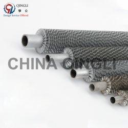 Spiral extruidos de aluminio de aletas de cobre con aletas en el tubo del intercambiador de calor