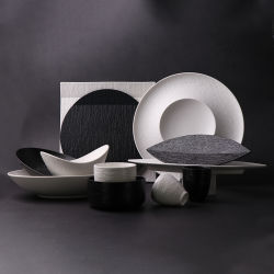 Comercio al por mayor de los países nórdicos vajillas de cerámica de porcelana vajillas para restaurantes hoteles