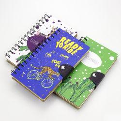 Büro-Lieferanten-Taschen-Tagebuch-gewundenes Notizbuch mit kundenspezifischem Firmenzeichen