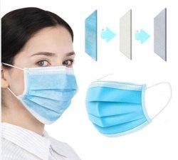 L'Anti-Virus jetables Non-Woven 3 plis masque facial avec des certifications