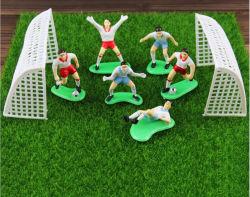 Insieme della bambola 1 della decorazione della torta del bambino del ragazzo di gioco del calcio degli accessori della decorazione della torta di scena di gioco del calcio della tazza di mondo