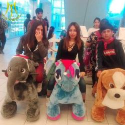 Hansel beste verkaufenplüsch-tierischer elektrischer Roller-Innenspiele für Malls
