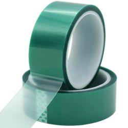 Beständiges grünes Haustier-Polyester-Hochtemperaturband mit Silikon-Kleber