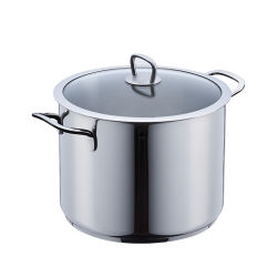 Il POT profondo commerciale delle azione dell'acciaio inossidabile approvvigiona vaschetta d'ebollizione della minestra dello stufato con il coperchio