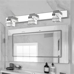 Nordic modern LED Spiegel Front Light eenvoudige badkamerverlichting K9 Kristallicht (WH-MR-16)
