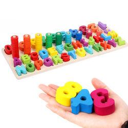 아이들을%s 교육 장난감을 배우는 수 디지털 모양 일치를 세는 것을 배우는 Montessori 물자 수학 장난감