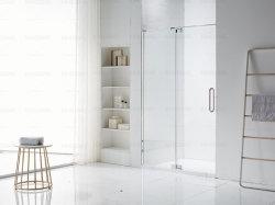 Diseño de lujo en el exterior de ducha de cristal sin cerco puerta con bisagra