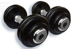 Equipos de gimnasia de hierro fundido ajustable pesa de goma