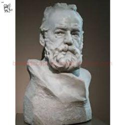 China Lieferant Hand Geschnitzt Große Life Size Hugo Büste Marmor Skulptur
