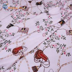 공장 가격 인쇄된 복합 모방 크레이프 패브릭 실크처럼 패브릭 여성용 셔츠 스커트 드레스와 슬리프웨어