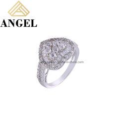 Classic 925 anelli in argento per donna Luxury AAA Zircon Rhodium Elegante Ring Fashion Jewellery