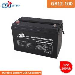 Csbattery 12V 100Ah Seal-Lead-acide de batterie de l'AGA pour Electric-Wheelchair Automatic-Transport-véhicule/de/Cleaning-Robot
