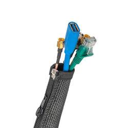 UL V0 flexibel gevlochten kabelbeheer met zwarte rits