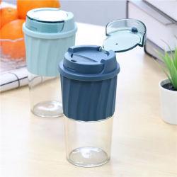 Custom chávena de café de forma simples caneca de café cobrir Dust-Proof Cup Copa do plástico Leite Plástico Cup Copa Palha Material Tritan BPA