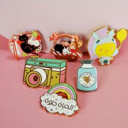 Großhandel Mode Werbeartikel Metall Handwerk Geschenke Artikel Custom Weich Hart Emaille Metall Abzeichen Lapel Pins Emblem Factory