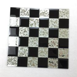 Blanco y Negro al aire libre Piscina mosaicos de guijarros de cristal de baño con ducha de mármol Decrative baldosas de pared Arte