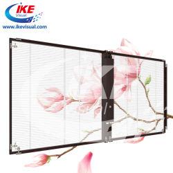 Fabrik-Glasbildschirm LED für das Ausstellungtradeshow-Fenster, das transparenten LED-Bildschirm bekanntmacht